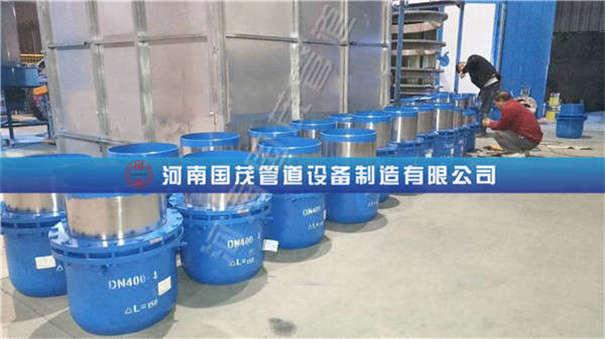 沈阳刘经理订购的DN400ΔL=150mm套筒补偿器发货