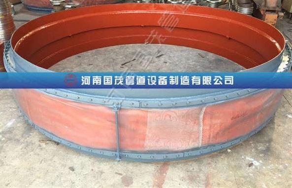 交叉式导流筒织物补偿器